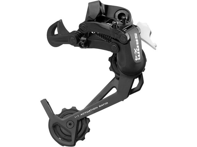 SRAM X4 Takavaihtaja 8-vaihteinen pitkällä häkillä, black
